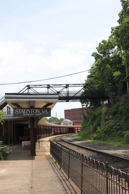 Staunton Train Station with the Sears Hill Bridge crossing